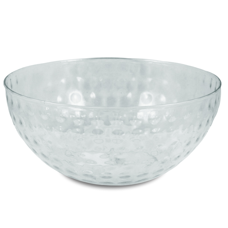 Easter 8 Inch Plastic Clear Fluted Bowl Easter Decoration