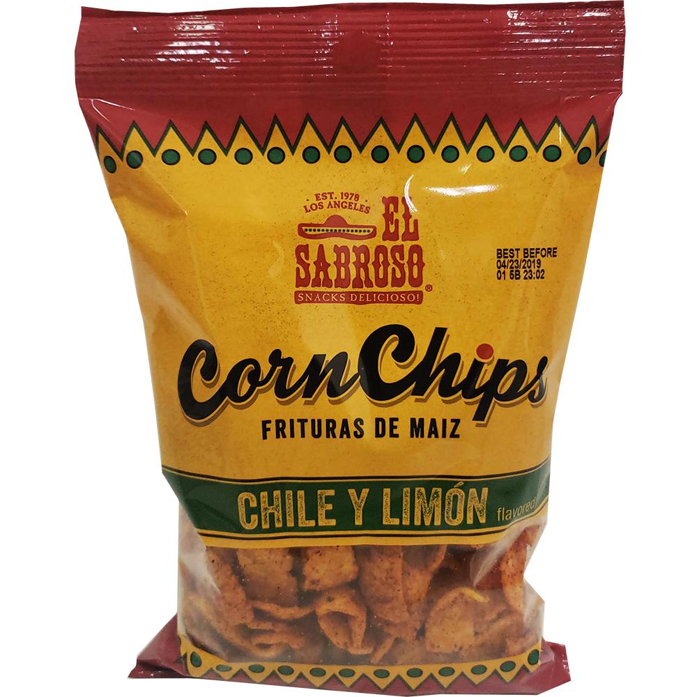 El Sabroso Corn Chips Bulk Case 24