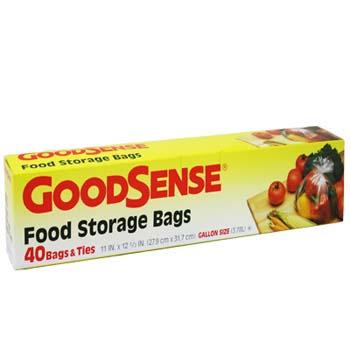 Storage Bags Food 1 Gallon 40ct