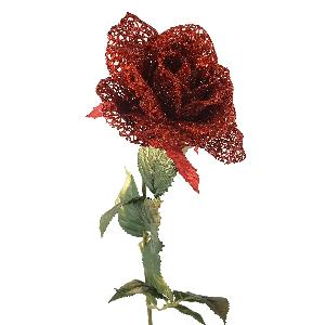 Artificial Glitter Rose