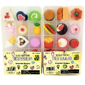 Erasers In Plastic Box