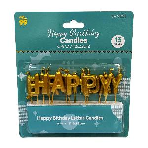 Birthday Letter Candles