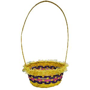 Easter Oval Bamboo Basket