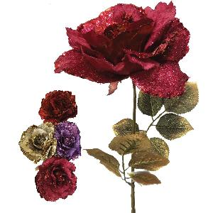 Artificial Glitter Diamond Velvet Rose